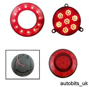 REAR-TAIL-STOP-BRAKE-RED-SMD-LED-LIGHTS-INNER-OUTER-RING-12V-TRAILER-TRUCK-BUS