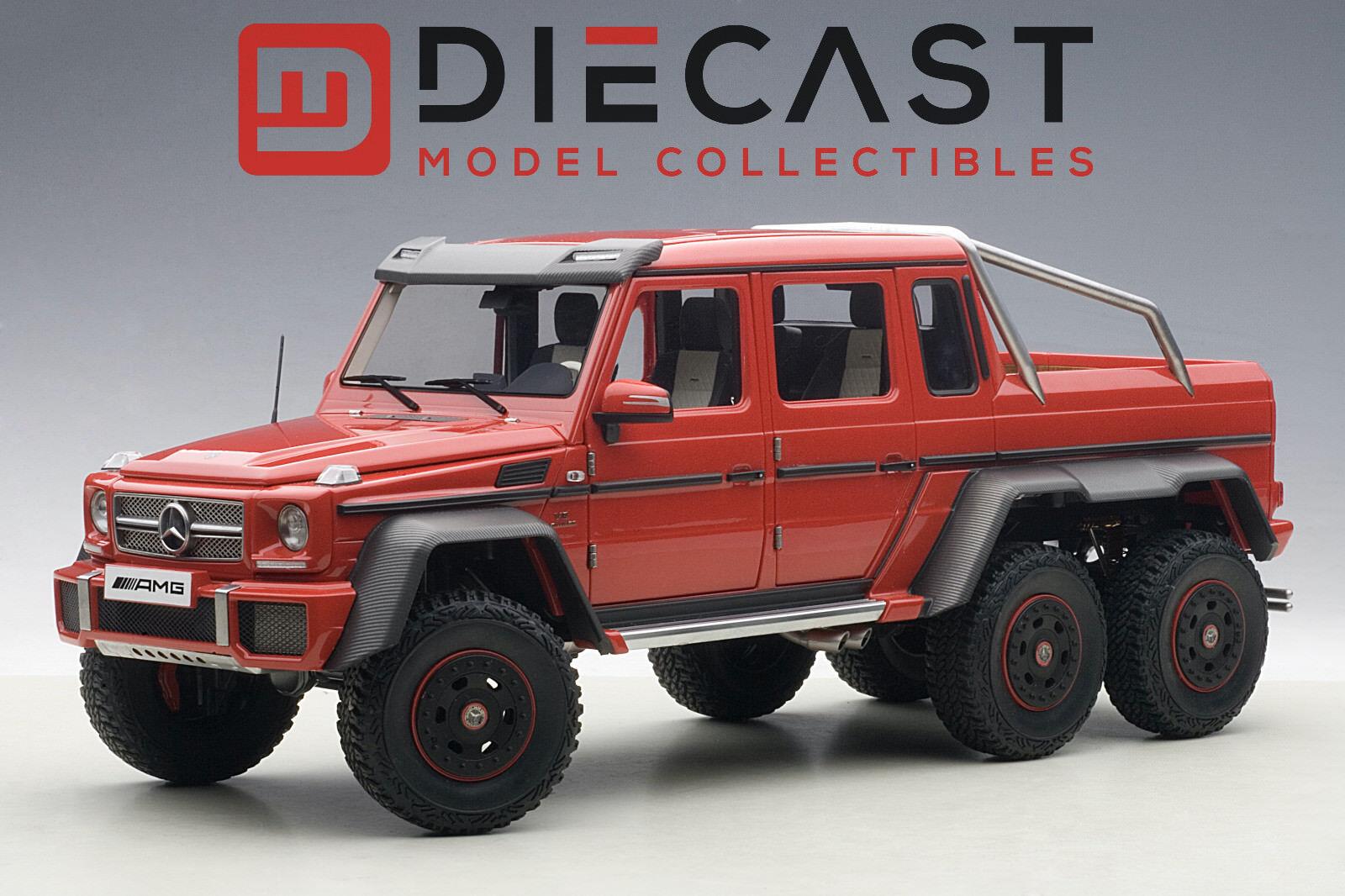 vendita scontata online di factory outlet AUTOart 76304 Mercedes Benz G63 AMG 6X6, 6X6, 6X6, rosso 1 18TH Scale  Sconto del 40%
