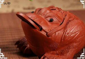 1pc Yixing Purple Sand Handmade Tea Decoration Tea Pet Lucky Toad  Zi Ni