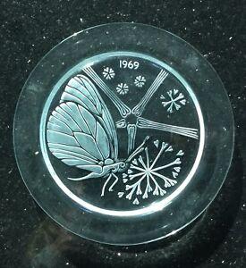 1969 Lalique France Cristal Marie-claude Papillon Butterfly-afficher Le Titre D'origine