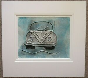 Dennis Middleton >> Details About Quirky Cream Vw Car Original Painting By Dennis Middleton Mounted 50 X 55 Cm