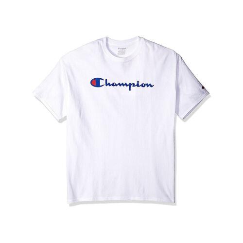 Script Logo OT435A Y07858 Champion Boys/' Jersey Tee