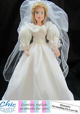 Diana Princess of Wales porcelain Royal bride wedding doll replica dress