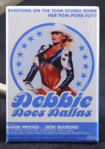 "Debbie Does Dallas Movie Poster 2/"" X 3/"" Fridge Locker Magnet X-Rated"