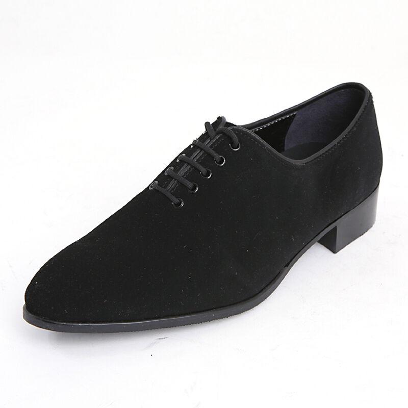 vendita calda Uomo plain toe lace up up up dress formal synthetic suede nero scarpe US 6 - US 10.5  edizione limitata a caldo