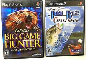 Lot-of-2-Complete-PS2-Games-Rapala-Pro-Fishing-amp-Cabela-039-s-Big-Game-Hunter