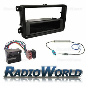 Vw-Golf-Mk5-Mkv-Radio-estereo-kit-de-montaje-de-Facia-Panel-de-cables-ISO-Antena-Adaptador