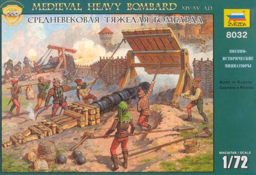Zvezda 1//72 8032 Medieval Heavy Bombard XIV - XV AD 7 Figures and 1 Gun