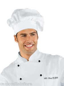 CAPPELLO per Pasticcere Da Chef CUOCO Classico Taglia Unica BIANCO con Strap aa