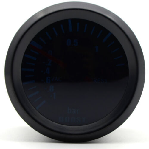 52mm AGG-1 Smoked Turbo Boost Gauge 1 to 2 Bar Pressure