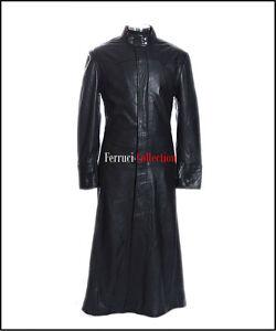 Neo Matrix Homme Long Smart Casual Noir Veste En Cuir D agneau Doux ... ac0ae98b243