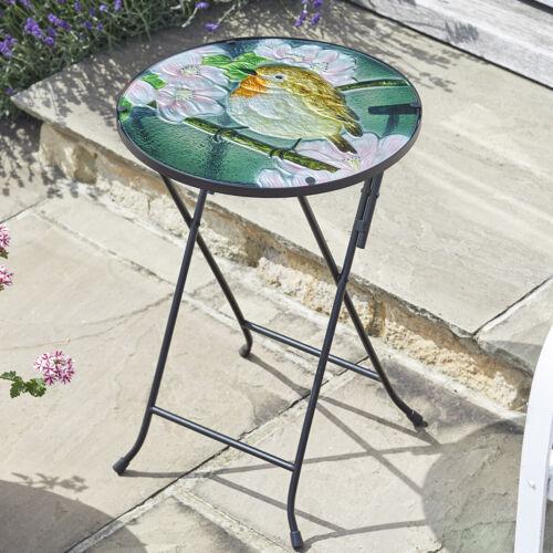 Flamboya Robin Glass Table Outdoor Garden Patio Table