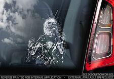 Iron Maiden - Car Window Sticker - Life After Death - Eddie Rock Music Sign TYP7