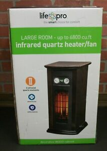Life Pro Large Room Infrared Quartz Tower Space Heater