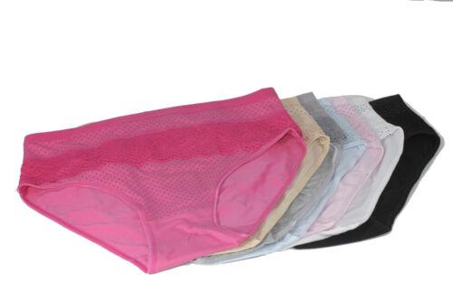 4 Set Damenslip Unterhose Slips Hotpants Unterwäsche Baumwolle DOT11-026