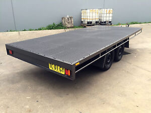 Budget-Unpainted-Table-Top-Flat-bed-Trailer-TANDEM-AXLE-14X6FT-2T-10ft-16ft-avai