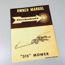 Cockshutt 315 Mower Owner Operators Manual Sickle Bar Sickel Hay Bar