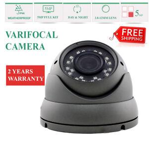 Dôme Cctv Caméra 5mp à Foyer Progressif 2.8-12mm Tvi Dispositifs Antimanipulation Cvi Full Hd D'extérieur 1080p 50 M Ir-afficher Le Titre D'origine Un Style Actuel