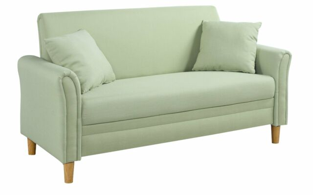Fabulous Modern 2 Tone Small Space Fabric Loveseat Sofa For Living Room Green Gmtry Best Dining Table And Chair Ideas Images Gmtryco