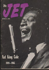 JET MAGAZINE NOVEMBER 4, 1965 *DEATH OF NAT KING COLE*