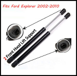for 2002 2010 ford explorer hood gas lift supports shocks. Black Bedroom Furniture Sets. Home Design Ideas