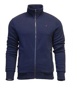 Superdry-Mens-Orange-Label-Full-Zip-Track-Top-Sweatshirt-Long-Sleeve-Navy