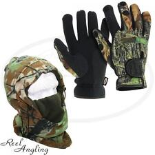 NGT Deluxe Snood & Camo Neoprene Gloves Large Carp Sea  Fishing Hunting Camping