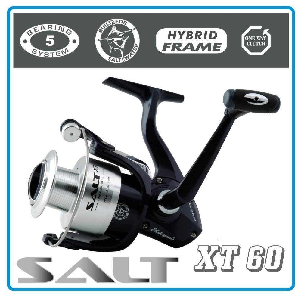 Shakespeare Salt XT 60 Metall Salzwasser Rolle Saltwater Reel   Top für Norwegen