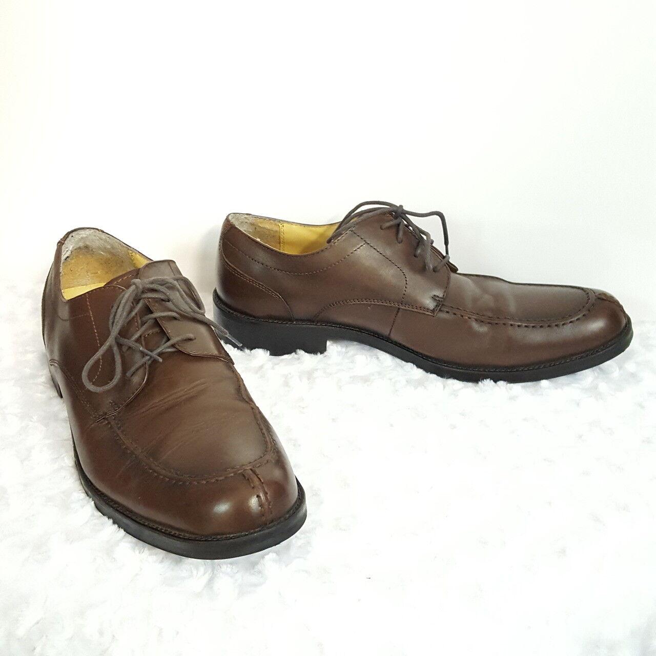 Bass Mens Brown Leather Lace Up Stuart Oxford Split Toe shoes 13