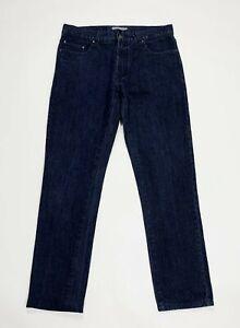 Joyful-jeans-uomo-usato-W34-tg-48-slim-gamba-dritta-denim-blu-boyfriend-T5283