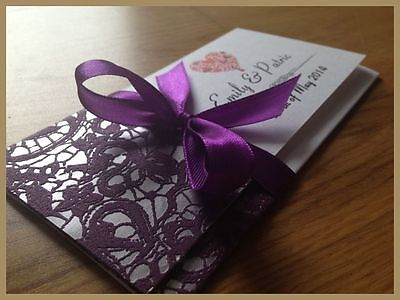 Personalised Wedding Day Evening Invitations Invites + Envelopes === SILVER2 ===