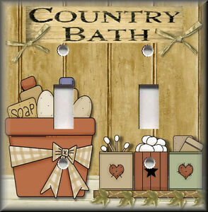 Light Switch Plate Cover - Country Bath - Primitive Home ...