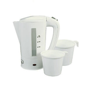 400ml Dual Voltage Electric Mini Travel Kettle 2 Cups