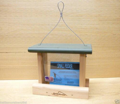 Kettle Moraine Small Hanging Cedar Wild Bird Feeder w// Green Roof SMFDR-GRN