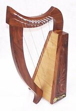 21 Inch Tall Celtic Irish Baby Harp 12 Strings Solid Wood Free Bag Strings Key