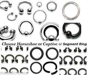 Captive-Ring-Horseshoe-Segment-Tragus-Septum-Nipple-BCR-CBR-PA-Piercing-Hood-Bar
