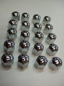 High Chrome Stainless Steel Wheel Nut Covers 19mm fits FORD