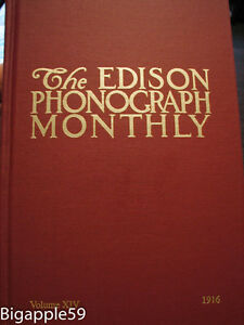 Scarce Edison Phonograph Monthly Collector Book #14 NEW