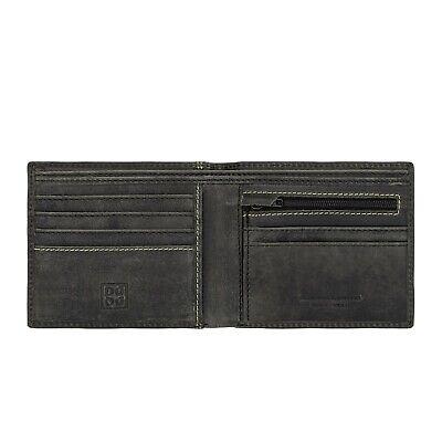 SOFT /& REAL LEATHER Uomo Vera Pelle Wallet Porta carte di credito portamonete