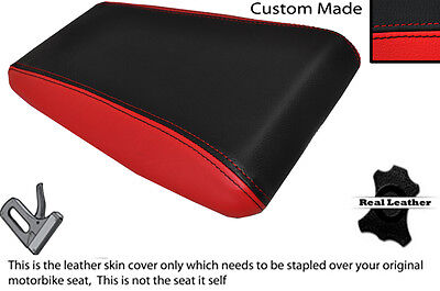 BLACK & RED CUSTOM FITS LAVERDA 650 668 REAR LEATHER SEAT COVER ONLY