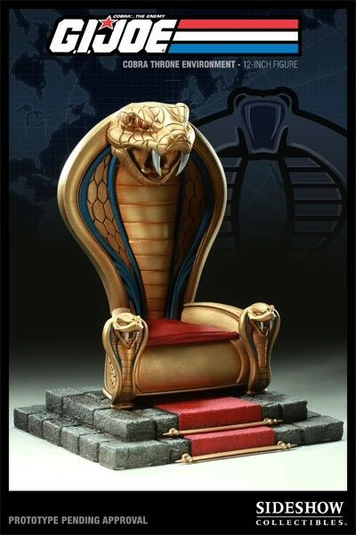 Sideshow Gi Joe Cobra trône échelle 1 6 environnement