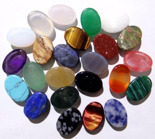 10*14MM Natural Oval Cabochon CAB de ágata de mezcla Flatback piedras preciosas semipreciosas