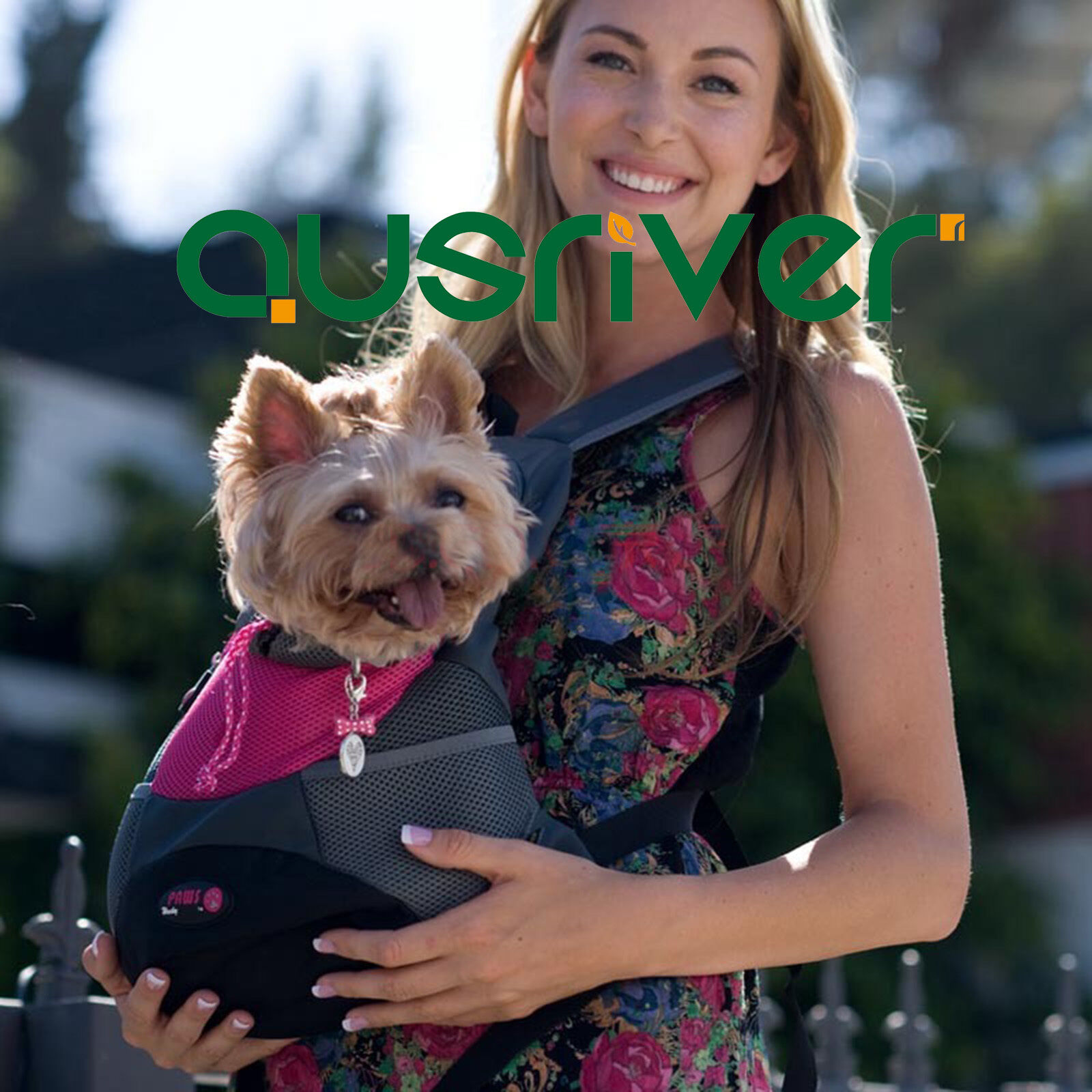 Rosa Blau Oxford Backpack Puppy Dog Cat Comfort Front Tote Carrier Travel Bag