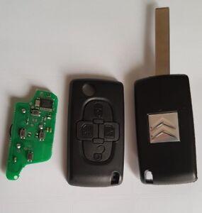 ASK Clé Plip Télécommande Complète Citroen C8 * 4 boutons Fréquence: 433mhz