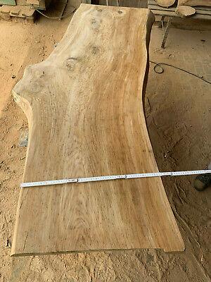 Eiche Baumscheibe Waschtischplatte geschliffen 100x50x6 cm ca Eichenbohle