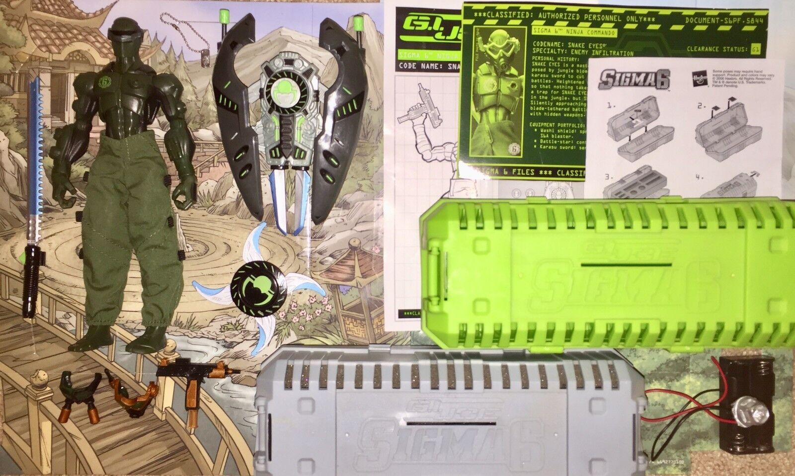 2006 Sigma 6 Snake Eyes v5 GI Joe Jungle Commando 100% with BOTH VARIANT CRATES