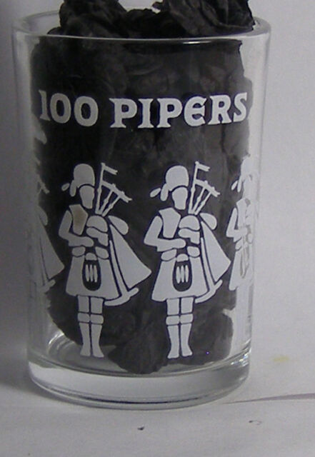 100 Pipers Shot Glass #2362
