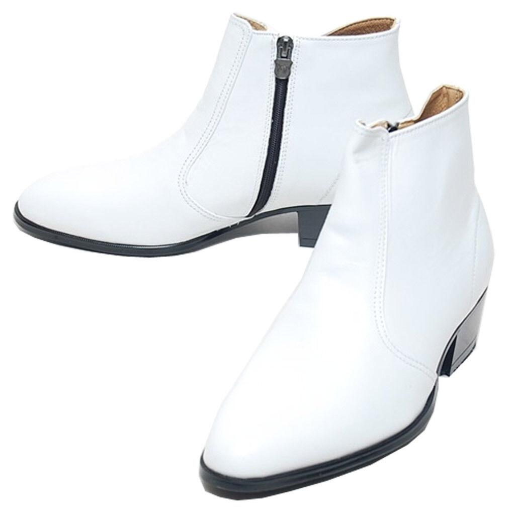 Epicsnob Mens Shoes Korea Genuine Cow Leather Dress Formal Desert Ankle Boots