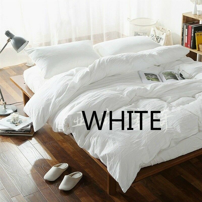 100% Pure Linen Duvet Quilt Cover French Flax Organic Natural Flat