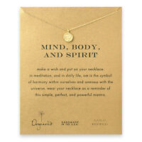Dogeared Gold Dip Mind,body,spirit Om Reminder 16boxed Necklace